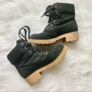 Lucky Brand Black Faux Suede Boots